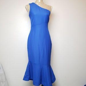 Venus One Shoulder Body Con Tulip Dress